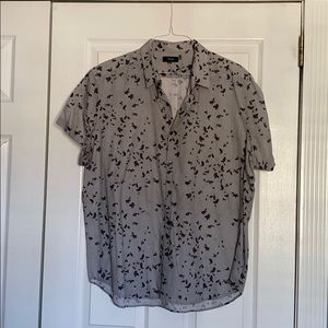Men's Theory Short Sleeved Button Down Shirt
